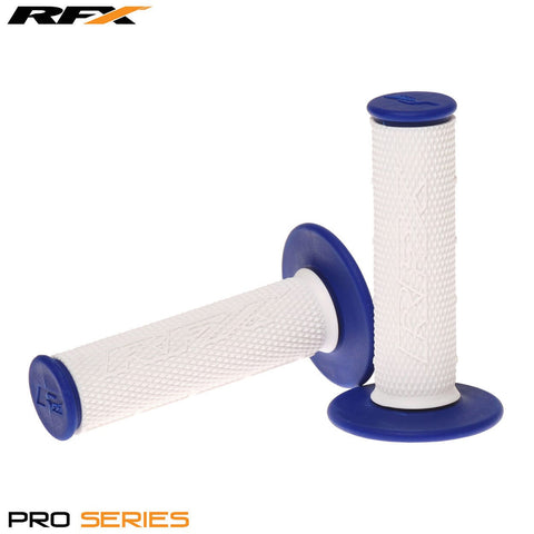 RFX Pro Series 20300 Dual Compound Grips White Centre (White/Blue) Pair