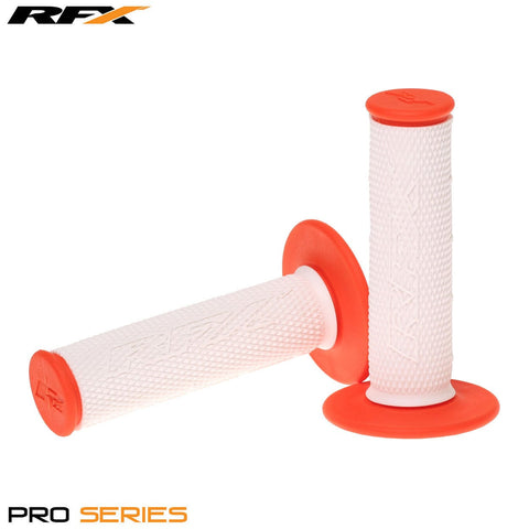 RFX Pro Series 20300 Dual Compound Grips White Centre (White/Orange)