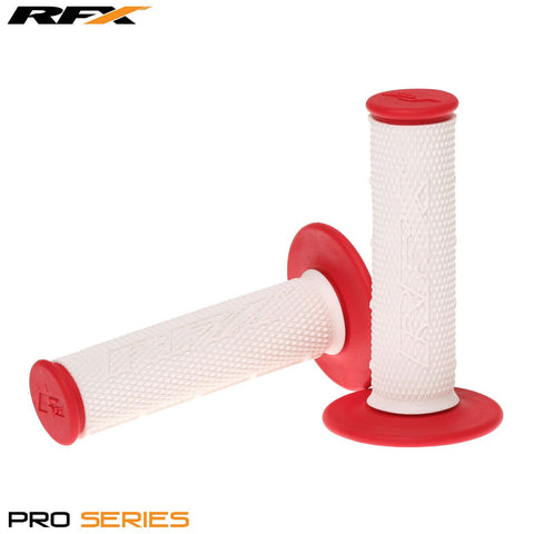 RFX Pro Series 20300 Dual Compound Grips White Centre (White/Red) Pair