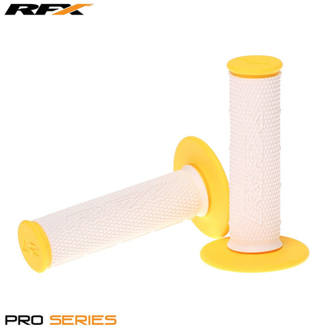 RFX Pro Series 20300 Dual Compound Grips White Centre (White/Yellow) Pair