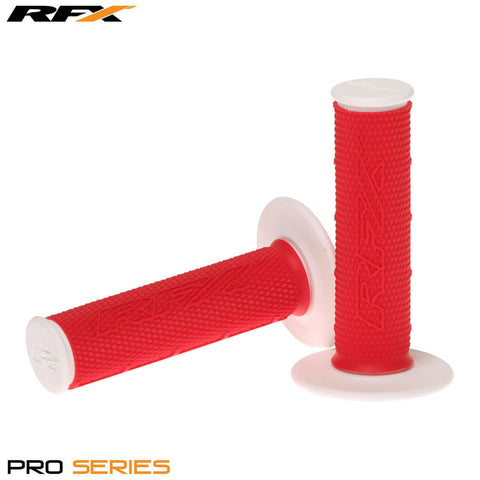 RFX Pro Series 20400 Dual Compound Grips White Ends (Red/White) Pair