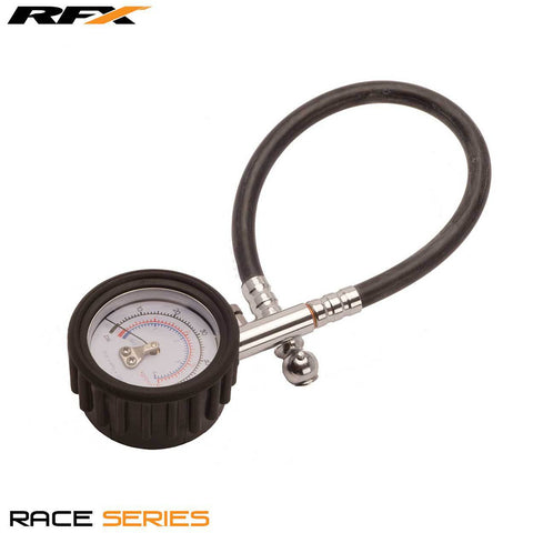 RFX Race Tyre Guage (0-30 psi) Dial Type Guage with Short Hose