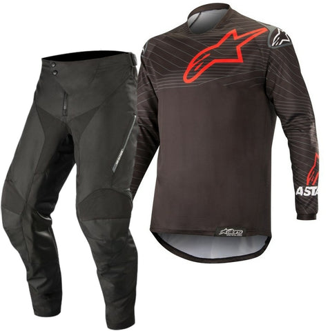 Alpinestars Venture R Enduro Gear Pants & Jersey BLACK RED