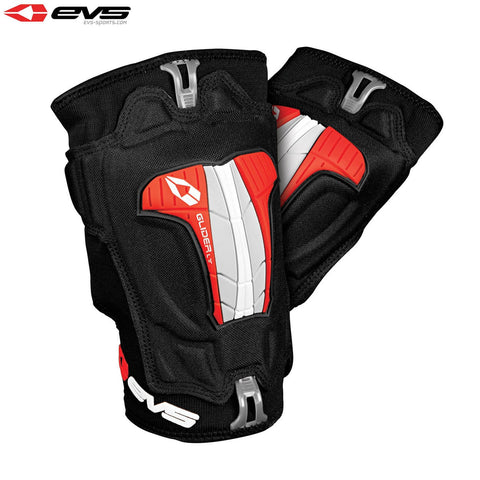 EVS Glider Lite Knee Guards Adult (Black/Red) Pair
