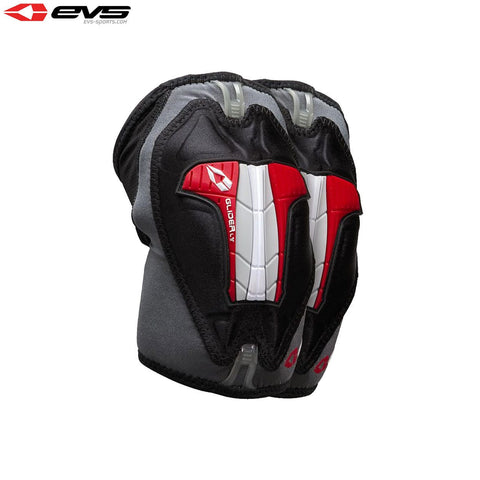 EVS Glider Lite Elbow Guards Adult (Black/Red) Pair