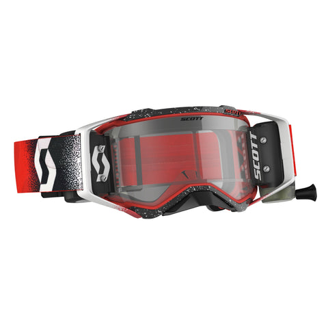 SCOTT PROSPECT WFS GOGGLE - WHITE/RED CLEAR