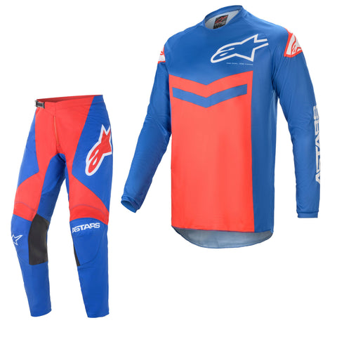 2021 Alpinestars Fluid Speed Blue/Red - Kit Combo