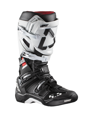 Leatt GPX 5.5 Flexlock Boots - White Black