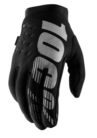 100% Brisker Motocross Enduro Glove - Black