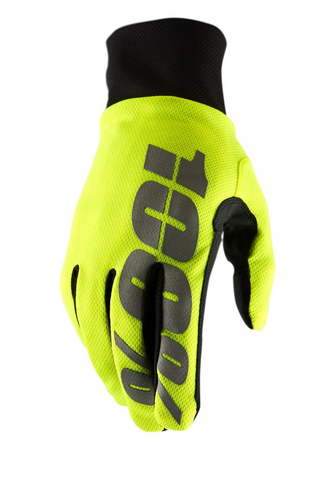 100% Hydromatic Waterproof Gloves - Yellow