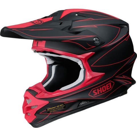 Shoei VFX-W Motocross Enduro Helmet - Hectic Black Red