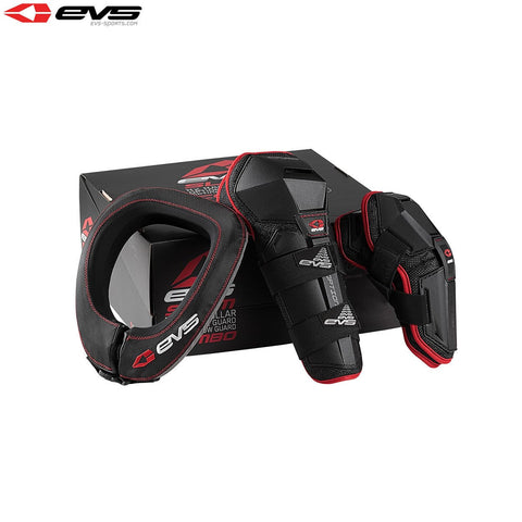 EVS Slam 2 Protector Combo (Inc Option Knee/Elbow/R2 Neck) (Black) Size Youth
