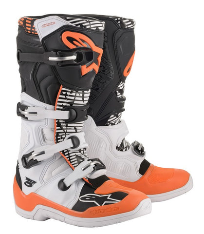 ALPINESTARS TECH 5 BOOT - WHITE BLACK FLUO ORANGE