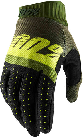100% Ridefit Motocross Enduro Glove  - Army Green