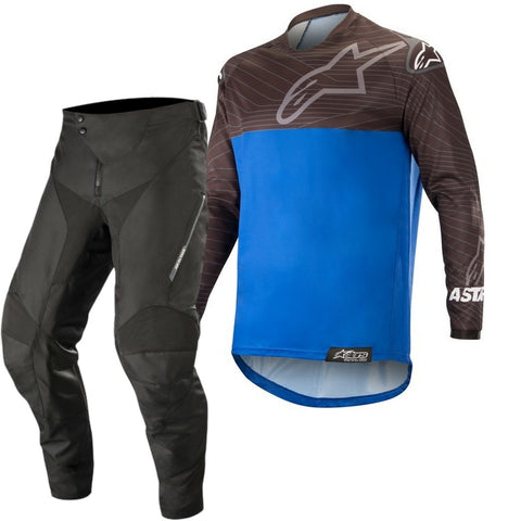 Alpinestars Venture R Enduro Gear Pants & Jersey BLACK BLUE