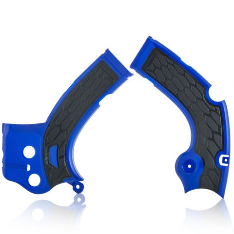 Acerbis Yamaha X-Grip Frame Guards - Blue