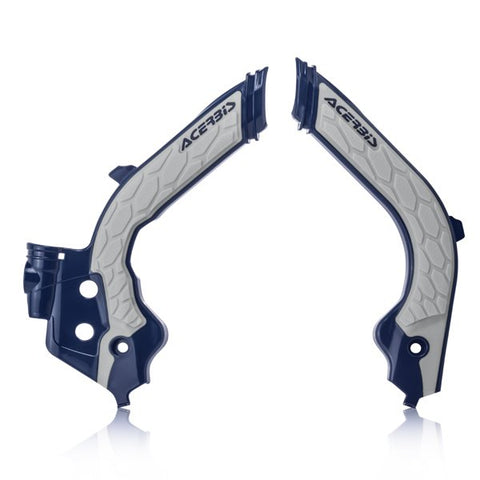 Acerbis Husqvarna X-Grip Frame Guards - Blue Grey