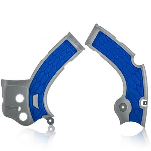 Acerbis Yamaha X-Grip Frame Guards - Silver Blue