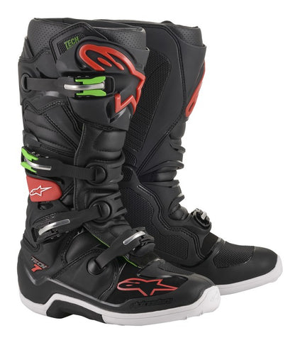 ALPINESTARS TECH 7 MOTOCROSS BOOT - BLACK RED GREEN