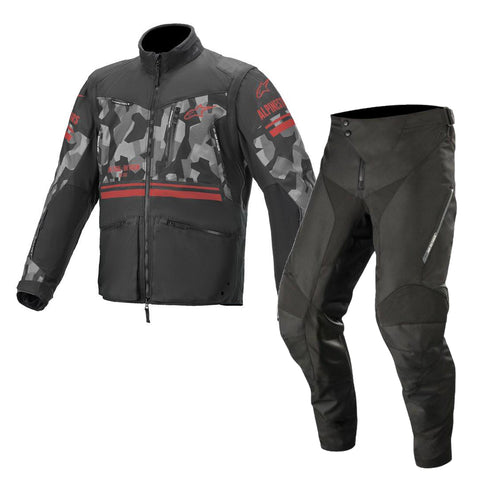Alpinestars Venture R Enduro Gear Pants & Jacket Mud Camo Red