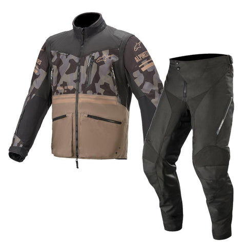 Alpinestars Venture R Enduro Gear Pants & Jacket Mud Camo Sand