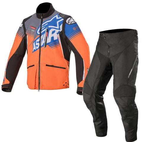 Alpinestars Venture R Enduro Gear Pants & Jacket Orange Grey Black