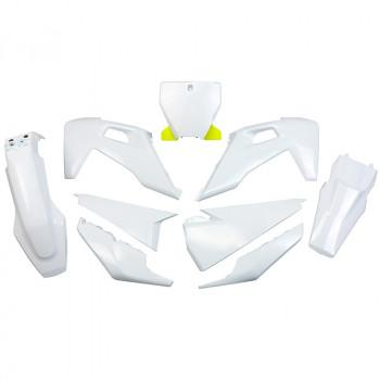 UFO 5 Piece Plastic Kit Husqvarna TC FC - White