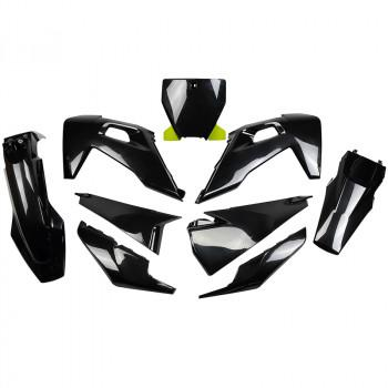 UFO 5 Piece Plastic Kit Husqvarna TC FC - Black