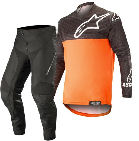Alpinestars Venture R Enduro Gear Pants & Jersey BLACK ORANGE