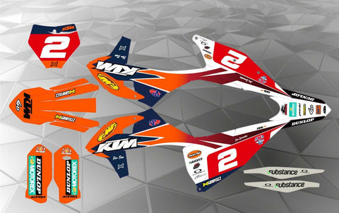 KTM FMF TEAM DECAL GRAPHICS STICKER KIT