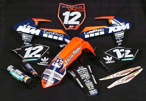 KTM NAVY GOPRO TEAM DECAL GRAPHICS STICKER KIT