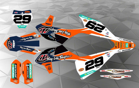 KTM TLD TEAM DECAL GRAPHICS STICKER KIT EXC/EXCF 2014-2016