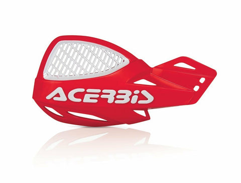 ACERBIS UNIKO VENTED HANDGUARDS - RED/WHITE