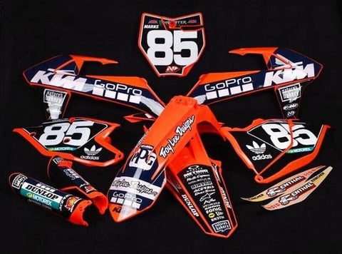 KTM GOPRO TEAM DECAL GRAPHICS STICKER KIT