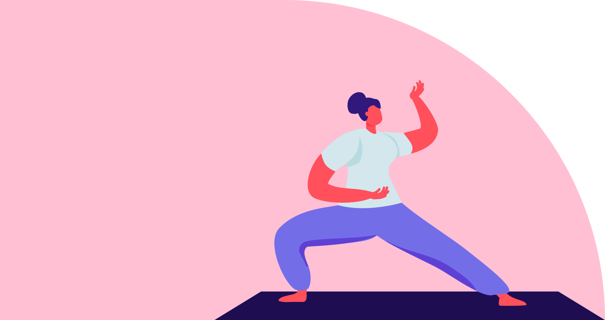 Illustration of a woman doing Yoga