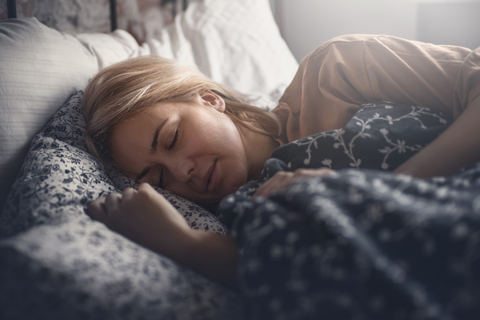 A woman sleeping soundlessly