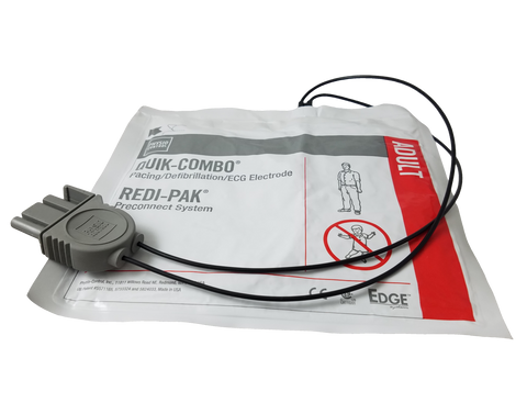 Physio-Control (First Med, Medtronic) Batteries EDGE System electrodes with QUIK-COMBO connector and REDI-PAK preconnect system