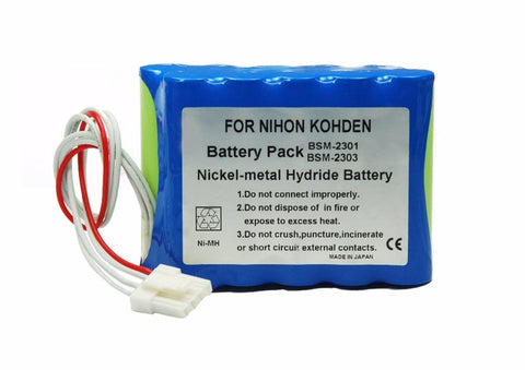 R&D Batteries 6011 BatteryNihon Kohden BSM, 2300, 2301A, 2303, 2304A, 2351A, 2354A, Lifescope I (10HR-4/3FAUC-NK) (608237) Battery
