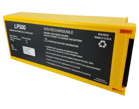 Physio-Control - First Med - Medtronic Lifepak 500 Battery