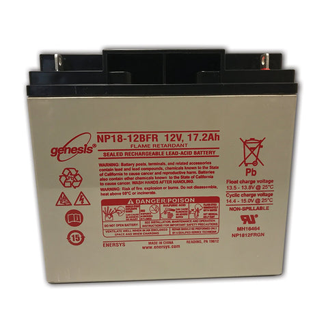 Ferno Ille 125, 128, 129 Chair Lift Battery (Requires 2/unit)