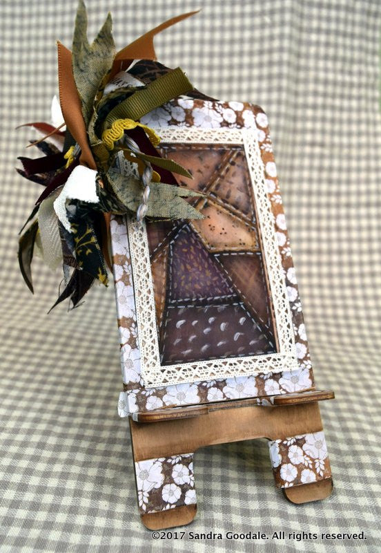 Freebie Project! Quilt Top Cell Phone Holder by Sandra Goodale