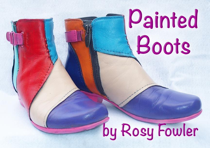 Free Project - Painted Boots by Rosy Fowler