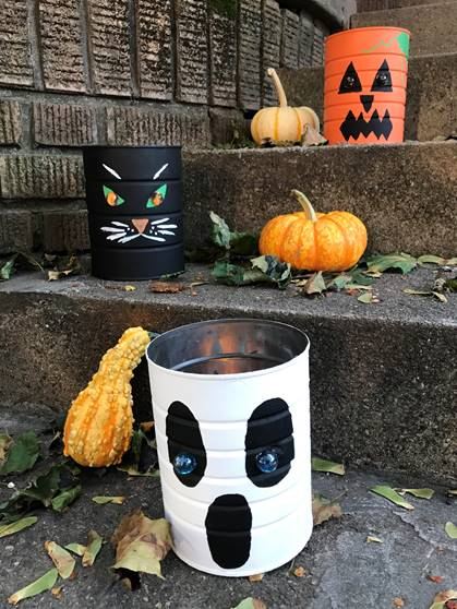Freebie Project! Coffee Can Halloween Luminaries from Mark LaFerney