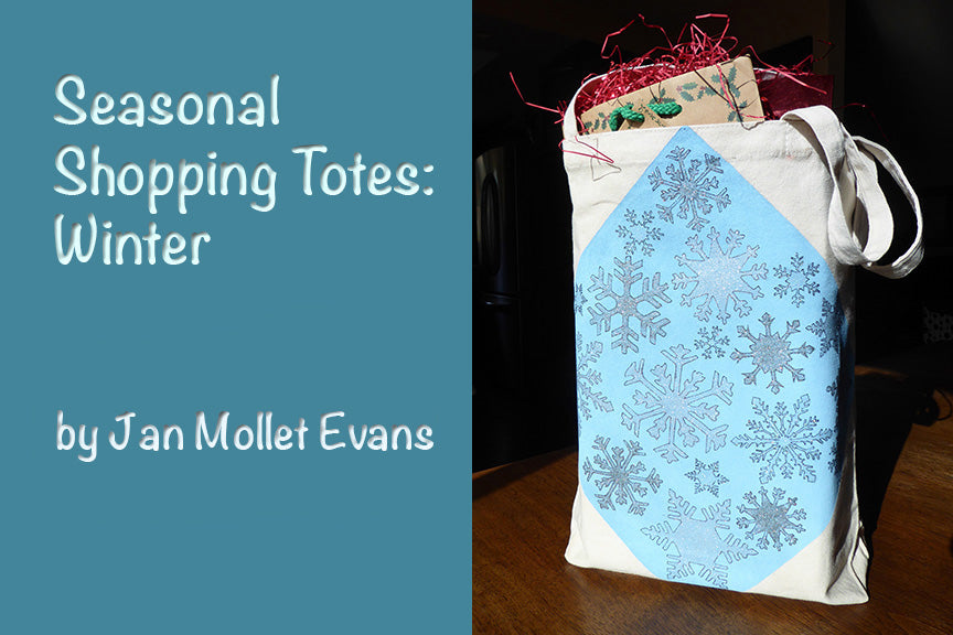 Seasonal Shopping Totes: Winter by Jan Mollet Evans