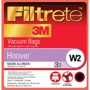 Hoover Style W2 Allergen Canister Vacuum Cleaner Bags 3pk