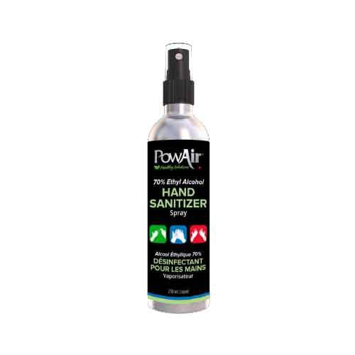 PowAir 70% Ethyl Alcohol Hand Sanitizer Spray.