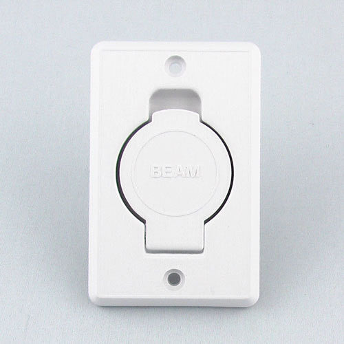 Beam Central Vacuum Inlet Valve -White