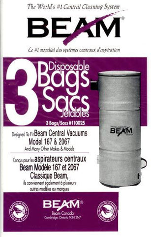 Beam Central Vacuum Cleaner Bags 3pk