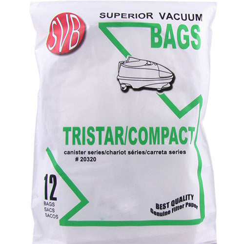 TriStar Compact Canister Vacuum Cleaner Bags 12pk