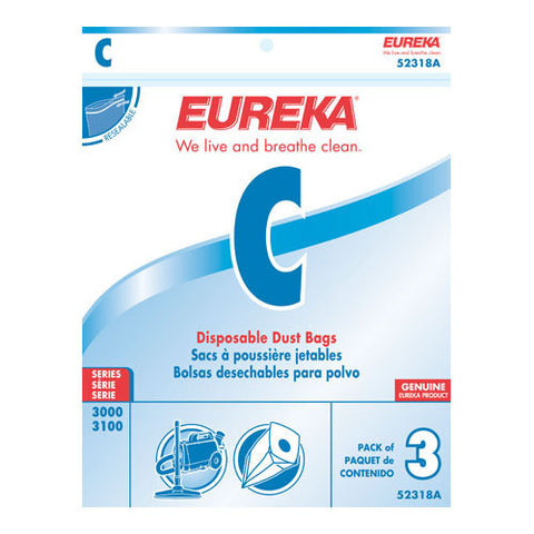 Eureka Style C Canister Vacuum Cleaner Bags 3pk